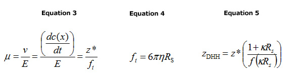 Equations 3, 4 and 5